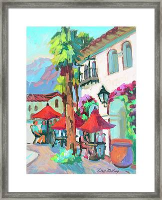 Early Morning Coffee In Old Town La Quinta 2 Framed Print