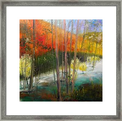 Framed Print featuring the painting Early Morning Display by John Williams