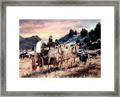 Early Morning Drive Framed Print by Ron Chambers