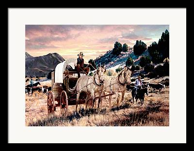 Team Or Horses Framed Prints