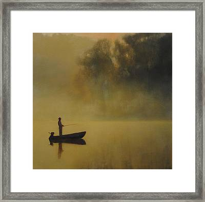 Framed Print featuring the painting Early Morning Fish Sold by Cap Pannell