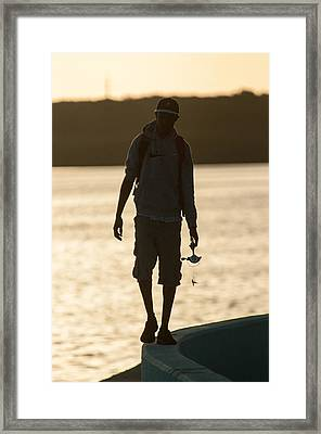Early Morning Fishing Framed Print