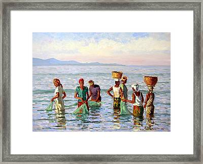 Early Morning Fishing Framed Print by Roelof Rossouw