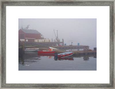 Early Morning Fog Framed Print by Garland Johnson
