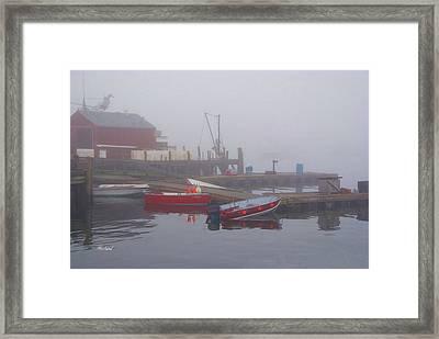Early Morning Fog Framed Print by Garland Johnson