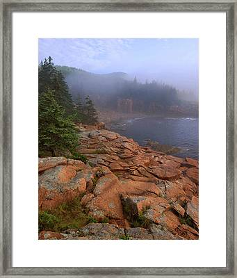 Early Morning Fog  Framed Print by Stephen  Vecchiotti