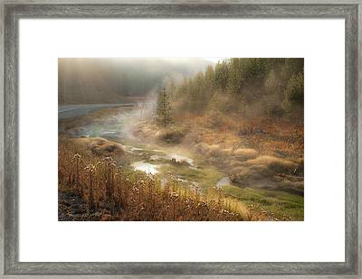 Early Morning Fog Yellowstone Np Framed Print