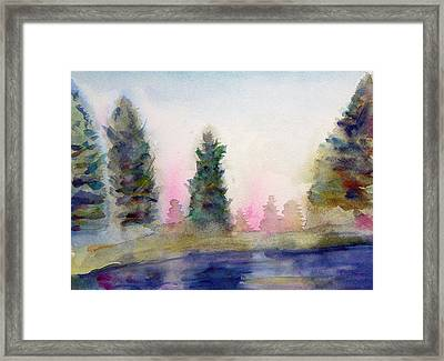 Early Morning Forest Framed Print