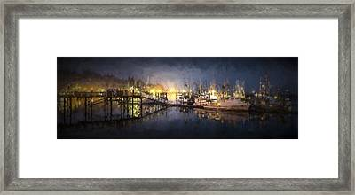 Early Morning Harbor IIi Framed Print