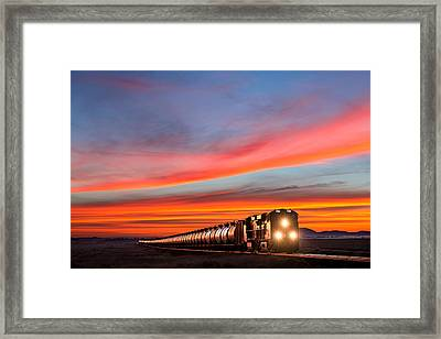 Early Morning Haul Framed Print