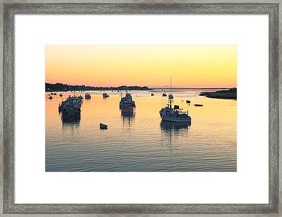 Framed Print featuring the photograph Early Morning In Chatham Harbor by Roupen  Baker
