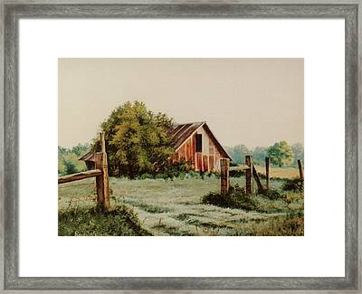 Early Morning In East Texas Framed Print