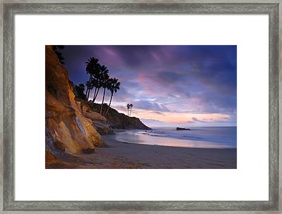 Early Morning In Laguna Beach Framed Print by Dung Ma