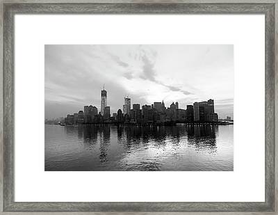 Early Morning In Manhattan Framed Print