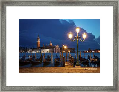 Framed Print featuring the photograph Early Morning In Venice by Brian Jannsen