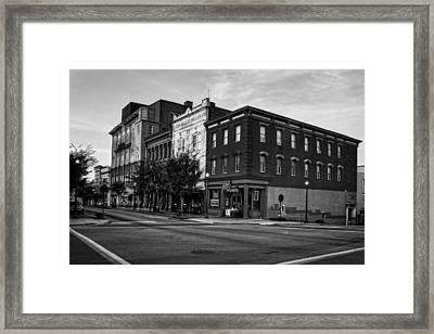 Early Morning In Wilmington In Black And White Framed Print