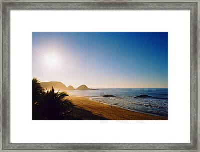 Early Morning In Zipolite 2 Framed Print by Lyle Crump