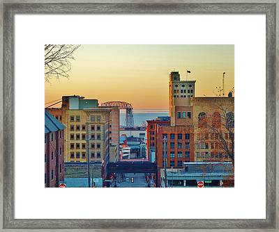 Early-morning Light In Duluth Framed Print