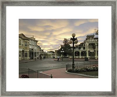 Early Morning Magic Kingdom Walt Disney World Framed Print