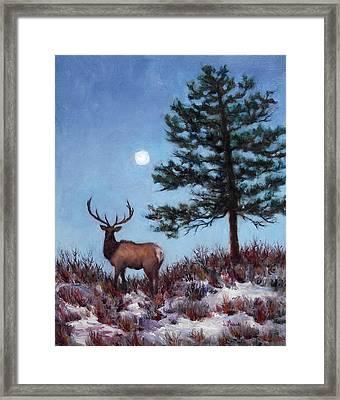 Early Morning Moon Framed Print by Jill Musser