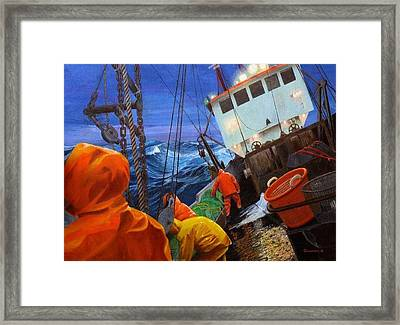 Early Morning On Georges Banks Framed Print by Phil Cusumano
