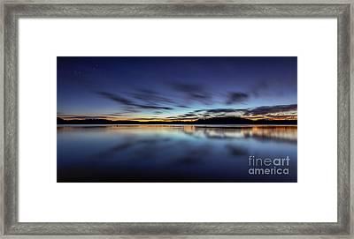 Early Morning On Lake Lanier Framed Print by Bernd Laeschke