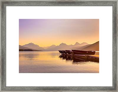Early Morning On Lake Mcdonald Framed Print