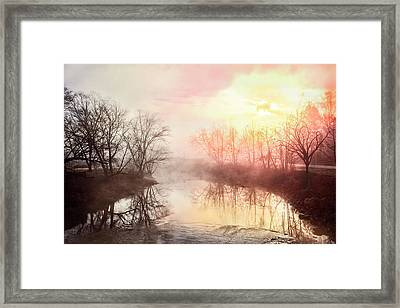 Framed Print featuring the photograph Early Morning On The River by Debra and Dave Vanderlaan