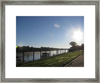 Early Morning On The Savannah River Framed Print by Donna Brown