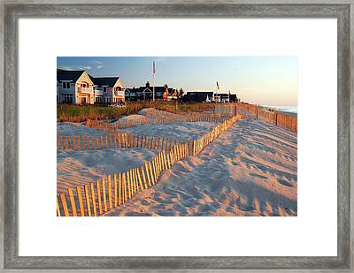 Early Morning On The Shore Framed Print by James Kirkikis