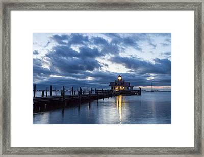 Early Morning Over Roanoke Marshes Lighthouse Framed Print