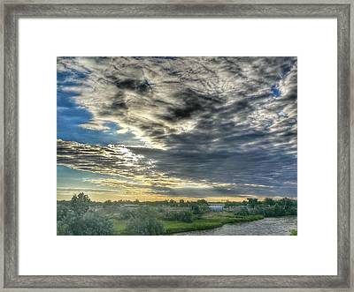 Early Morning Over The North Platte Framed Print by Chris Short