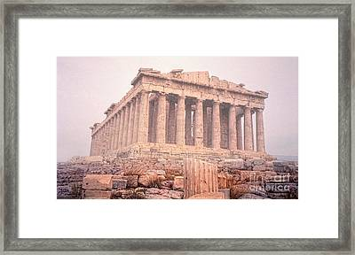 Framed Print featuring the photograph Early Morning Parthenon by Nigel Fletcher-Jones