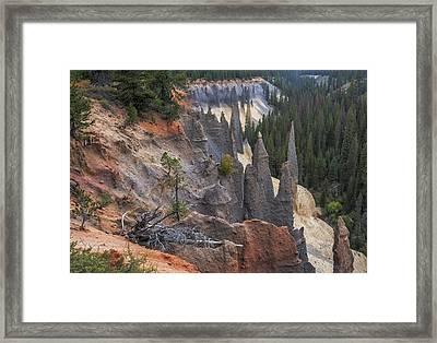 Early Morning Pinnacles Framed Print