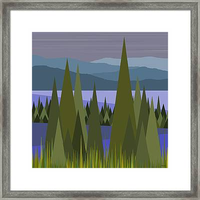 Early Morning Rain Framed Print by Val Arie