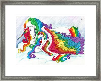 Early Morning Rainbows Framed Print by Leah Marie King