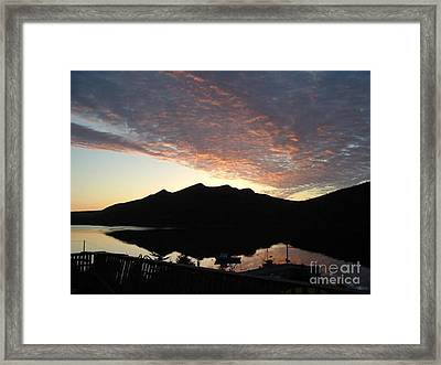 Early Morning Red Sky Framed Print by Barbara Griffin