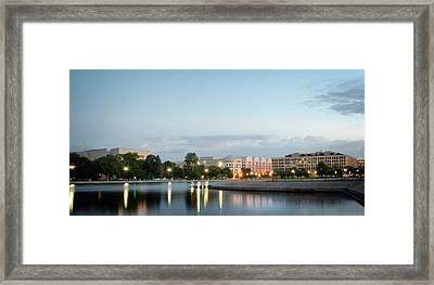 Early Morning Reflection In Washington D.c. Framed Print