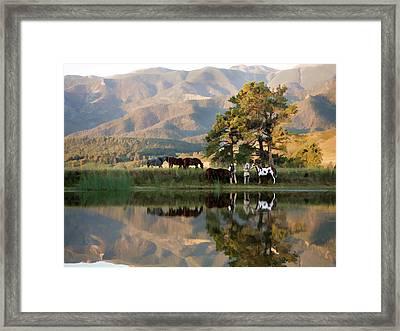 Early Morning Rendezvous Framed Print