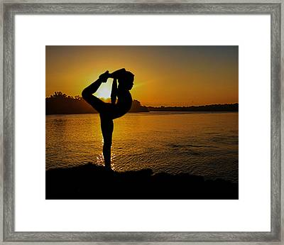 Early Morning Exercise Framed Print by Robert Hebert