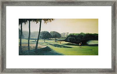 Early Morning Round Framed Print by Barry Smith