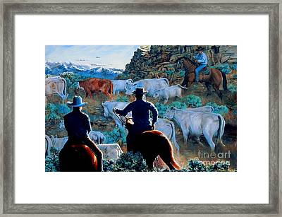 Early Morning Roundup Framed Print by Ruanna Sion Shadd a'Dann'l Yoder