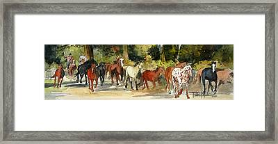 Early Morning Roundup Framed Print by Trish McKinney
