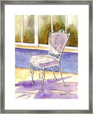 Early Morning Shadows Framed Print by Marsha Elliott