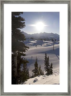Early Morning Skiing Framed Print by Taylor S. Kennedy