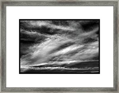 Framed Print featuring the photograph Early Morning Sky. by Terence Davis