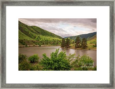 Early Morning Smoothy Waterscape Art By Kaylyn Franks  Framed Print