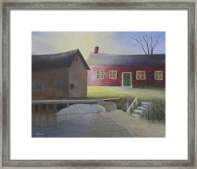 Early Morning Sun At The Shop Framed Print