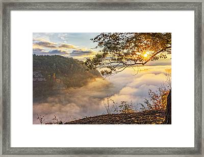 Early Morning Sunrise At Letchworth State Par Framed Print