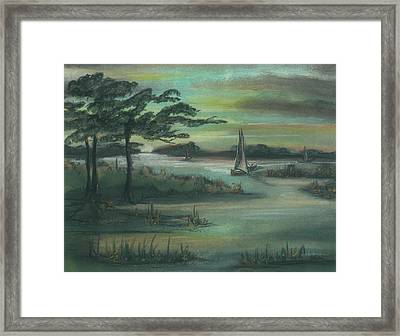 Early Morning Sunrise Framed Print by Shelby Kube